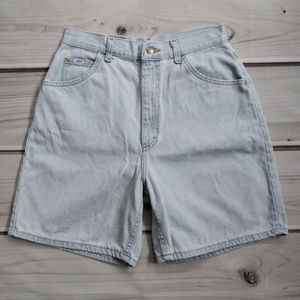 Lee Vintage Light Wash High Rise Denim Shorts